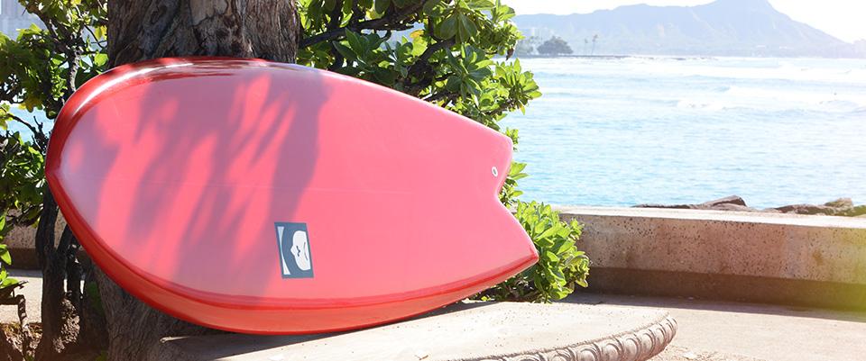 circa 72 fish tore surfboard