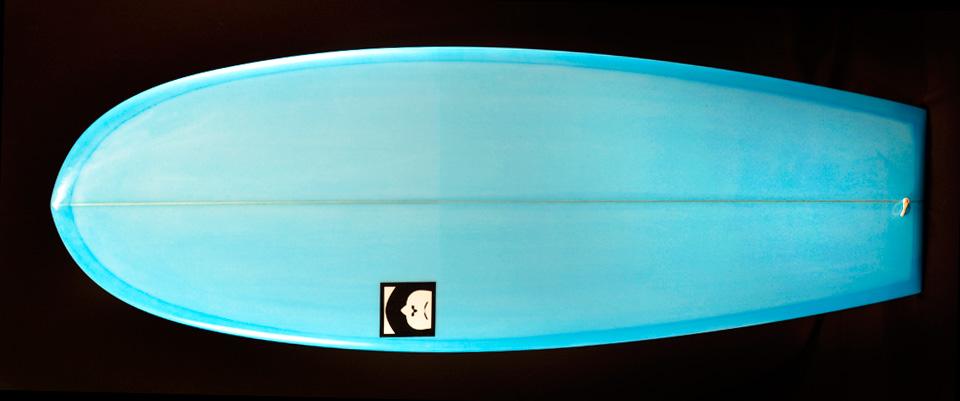 mini simmons tore surfboard